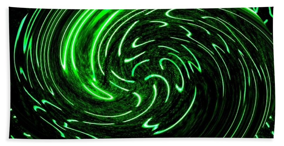 Abstract Beach Towel featuring the digital art Euphoria by Will Borden