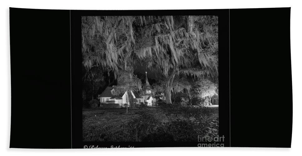 Evangelical Beach Towel featuring the photograph Evangelical Church St Simons Island Georgia by Rebecca Stephens