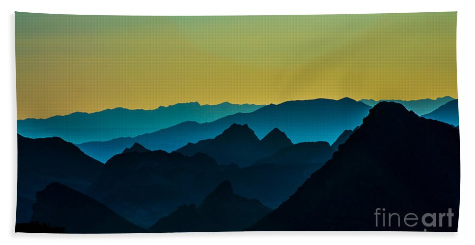 Mountains Beach Towel featuring the photograph Evening At Lake Mead by Stephen Whalen