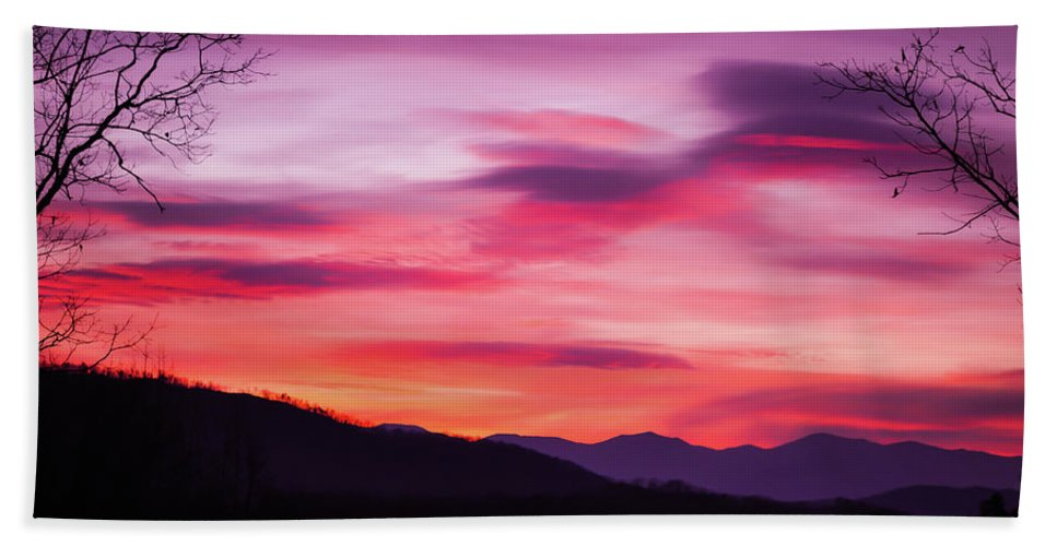 Sunset Beach Towel featuring the photograph Evening Drama II by Michelle Rollins