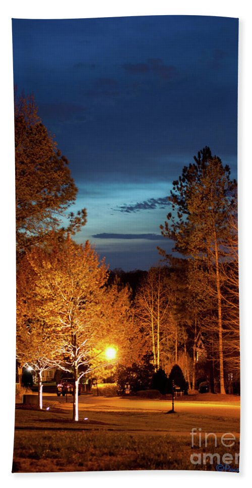 Fine Art Beach Towel featuring the photograph Evening In The Neighborhood by Paulette B Wright