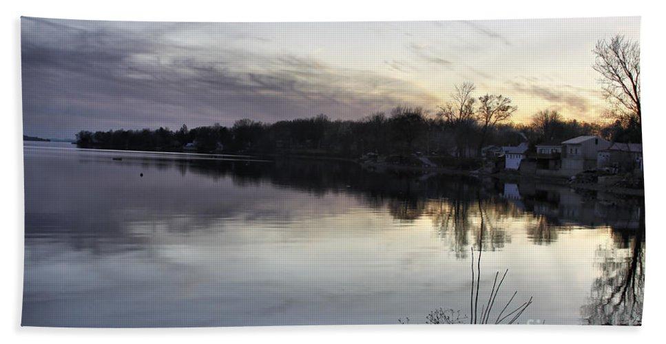 Lake Champlain Beach Towel featuring the photograph Evening Light On Lake Champlain by Deborah Benoit