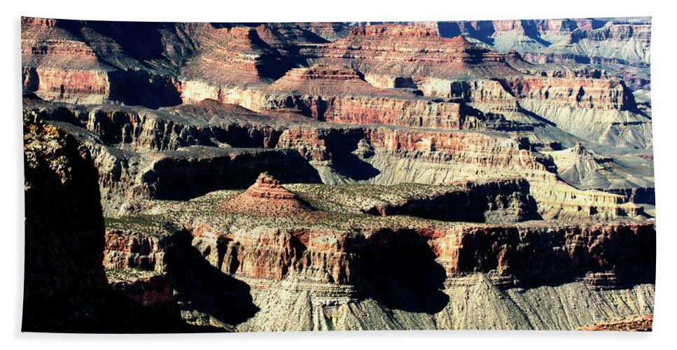 Grand Canyon Beach Towel featuring the photograph Evening Light Over The Grand Canyon by Paul Cannon