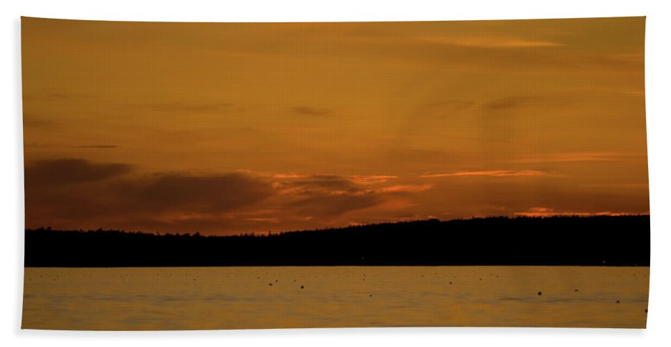 cranberry Isle's Beach Towel featuring the photograph Evening Settles In by Paul Mangold