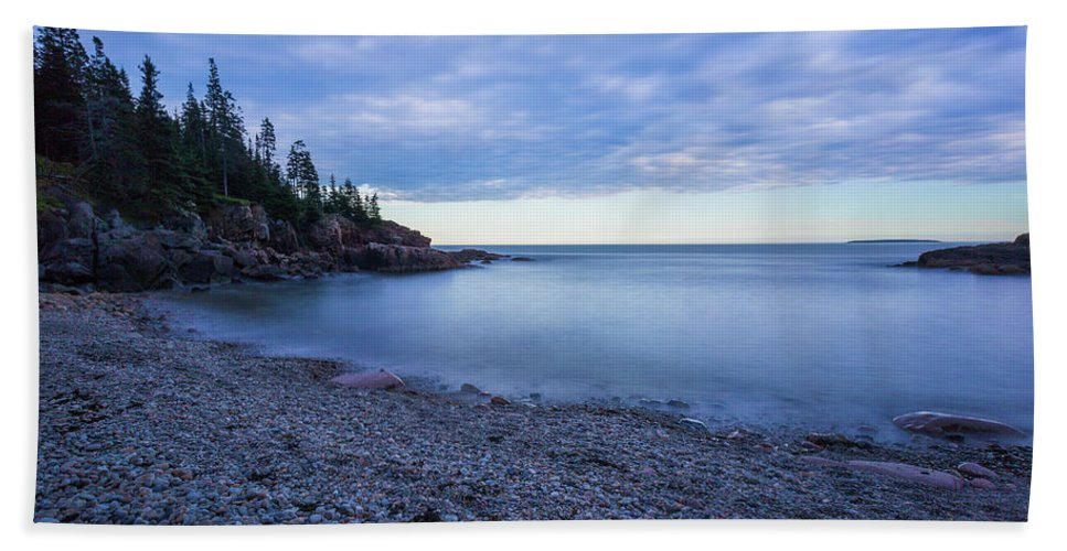 Acadia Beach Towel featuring the photograph Evening Shadows by Arti Panchal