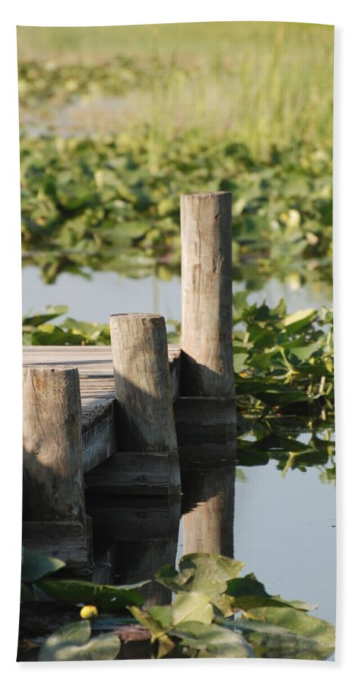 Landscape Beach Towel featuring the photograph Everglades Pier by Rob Hans