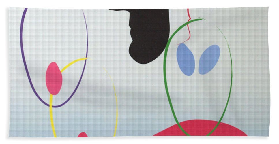 Digital Artwork Beach Towel featuring the digital art Everyones Talking And No One's Listening by J R Seymour