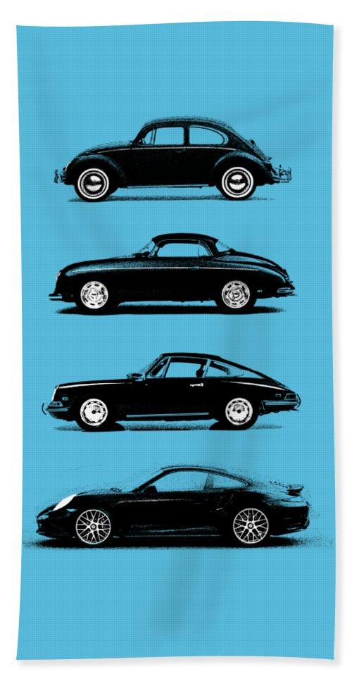 Porsche Beach Towel featuring the photograph Evolution by Mark Rogan