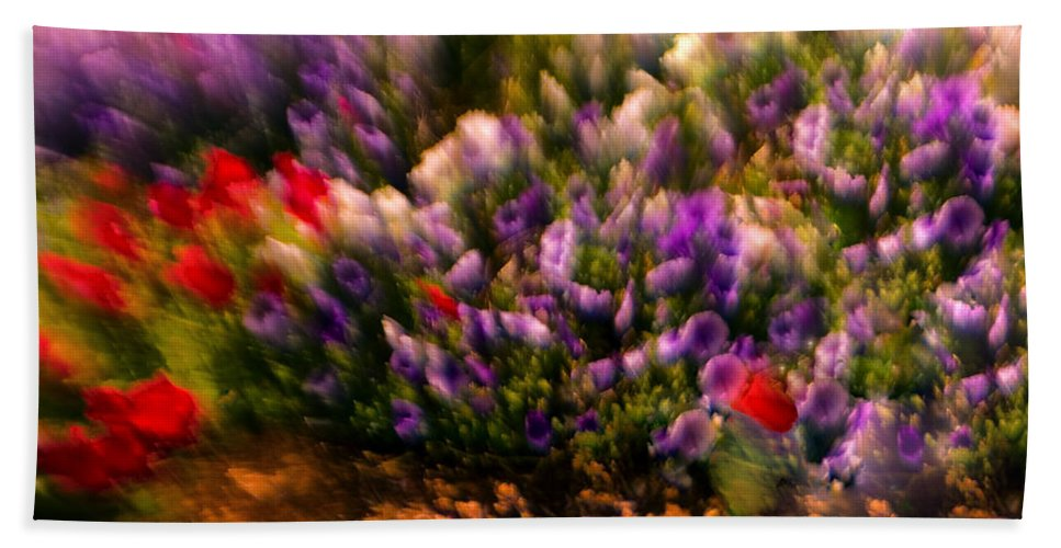 Flowers Beach Towel featuring the photograph Exploding Flowers 1 by Madeline Ellis