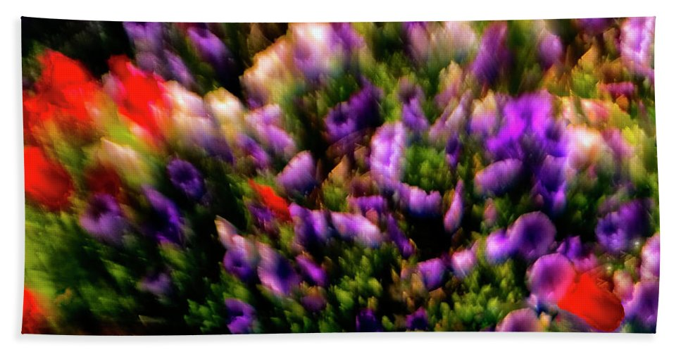 Flowers Beach Towel featuring the photograph Exploding Flowers 2 by Madeline Ellis