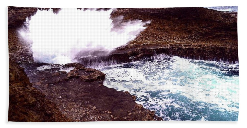 Sea Beach Towel featuring the photograph Exploding Nature by Lucas Van Es