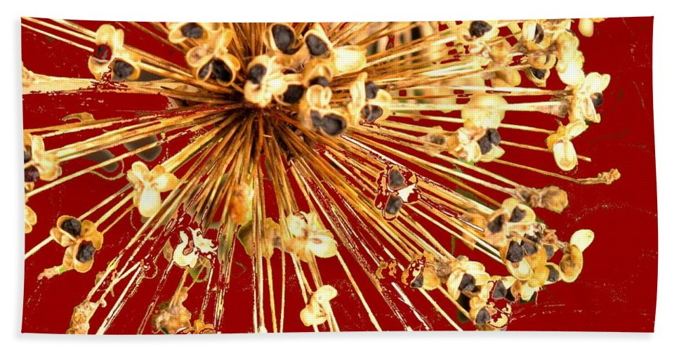 Explosion Beach Sheet featuring the photograph Explosion Enhanced by Ian MacDonald