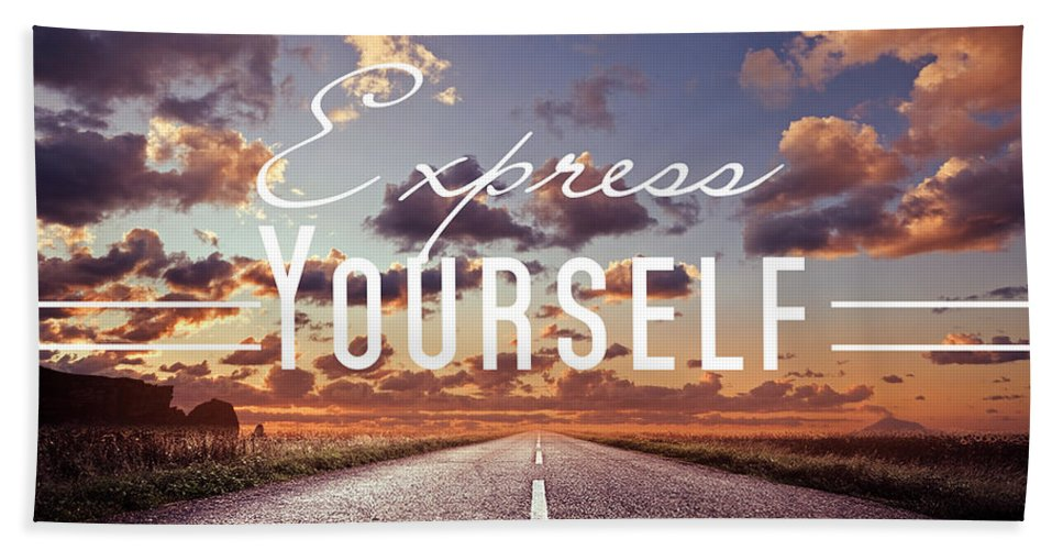 Express Yourself Beach Towel featuring the photograph Express Yourself by Mark Ashkenazi