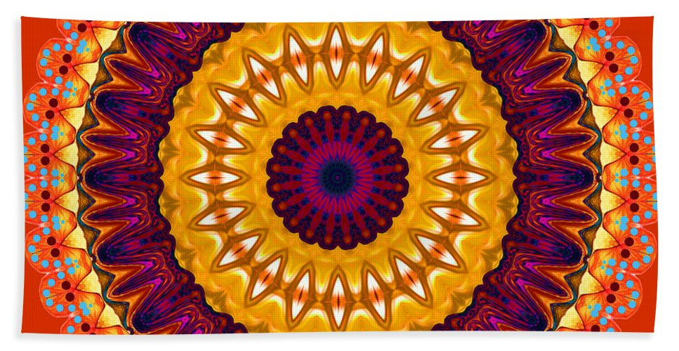 Digital Beach Towel featuring the digital art Expression No. 7 Mandala by Joy McKenzie