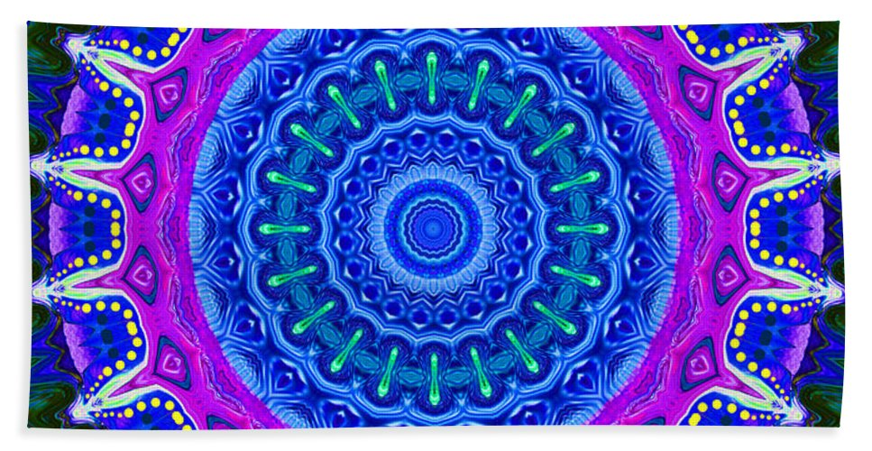Digital Beach Towel featuring the digital art Expression No. 8 Mandala 3d by Joy McKenzie