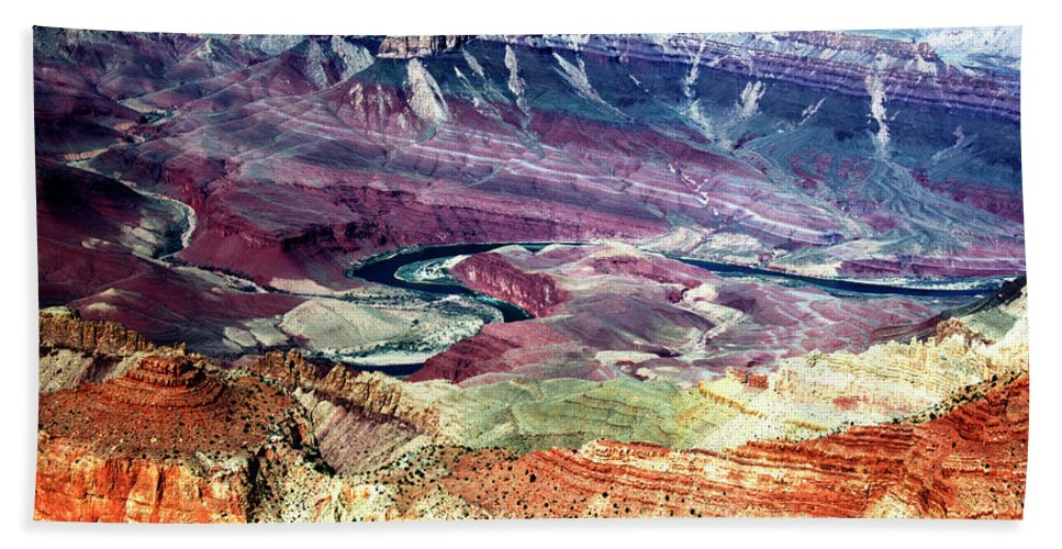 Grand Canyon Beach Towel featuring the photograph Exquisite Color Design by Paul Cannon