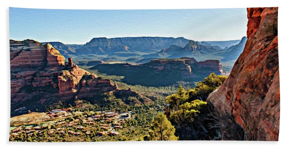Sedona Beach Towel featuring the photograph F And B Ridge 07-028 by Scott McAllister