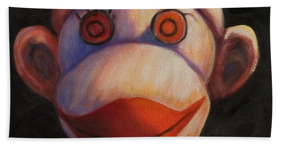 Children Beach Towel featuring the painting Face by Shannon Grissom