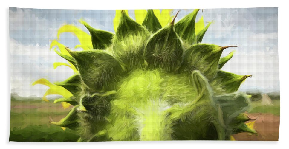 Sunflower Beach Towel featuring the photograph Facing Tomorrow - #2 by Stephen Stookey