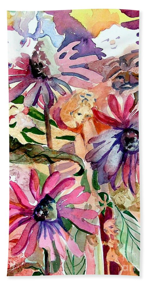 Daisy Beach Towel featuring the painting Fairy Land by Mindy Newman
