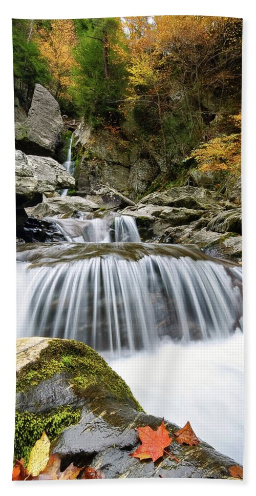 Bash Bish Falls Beach Towel featuring the photograph Fall Color Bash by Neil Shapiro
