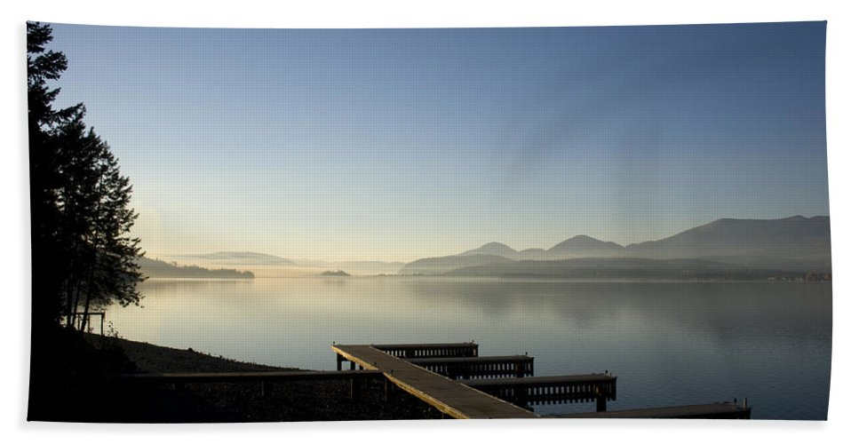 Landscape Beach Towel featuring the photograph Fall Evening by Lee Santa