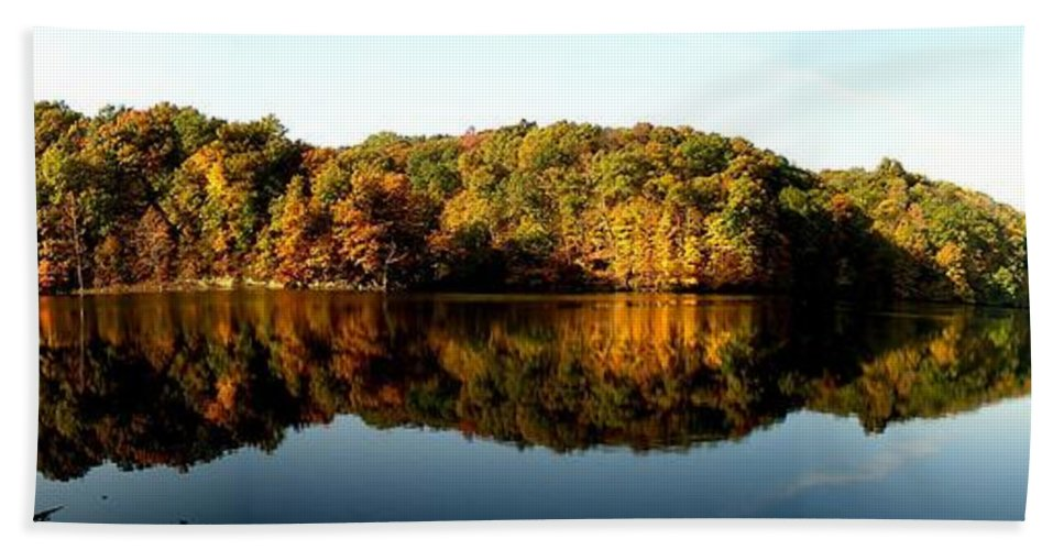Fall Beach Towel featuring the photograph Fall In Indiana by Carol Milisen