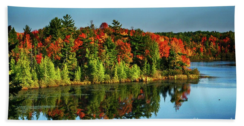 Wisconsin Beach Towel featuring the photograph Fall In Northern Wisconsin by Tommy Anderson