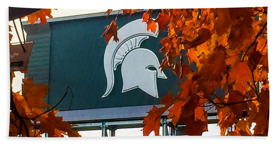 Msu Beach Towel featuring the photograph Fall Is Football by Joseph Yarbrough