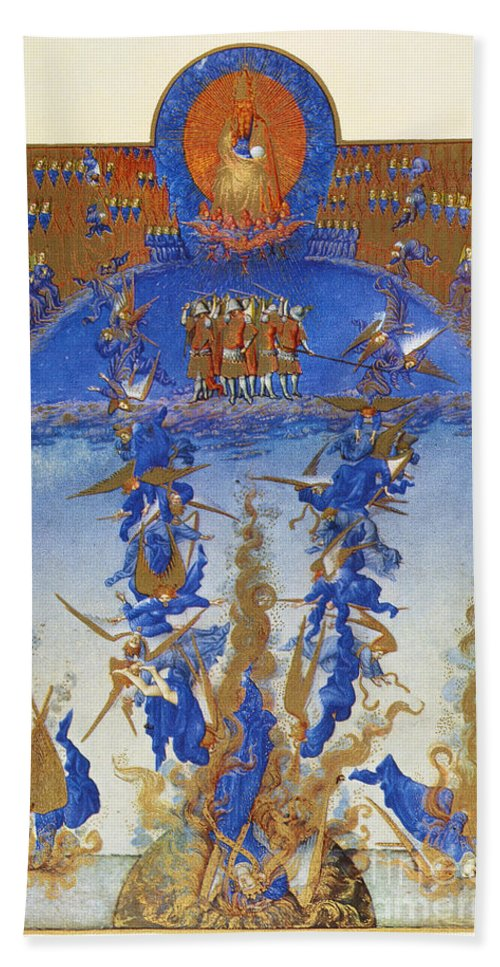 15th Century Beach Towel featuring the photograph Fall Of Rebel Angels by Granger