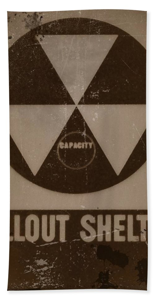 Nuclear Beach Towel featuring the photograph Fall Out Shelter by Bill Cannon