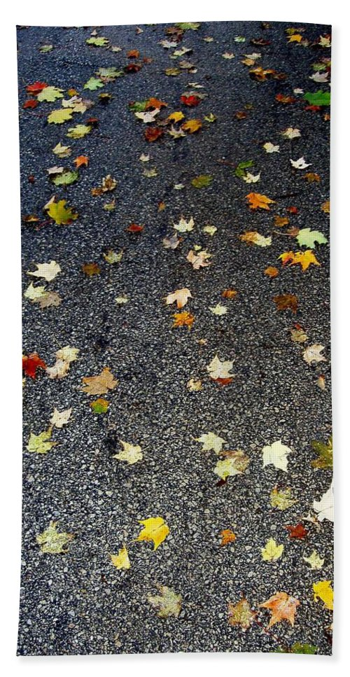Leaves Beach Towel featuring the photograph Fall Sparkle by Deborah Crew-Johnson