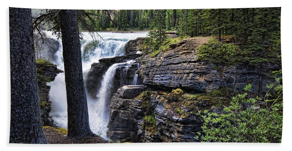 Canada Beach Towel featuring the photograph Falls 3 by Wayne Sherriff