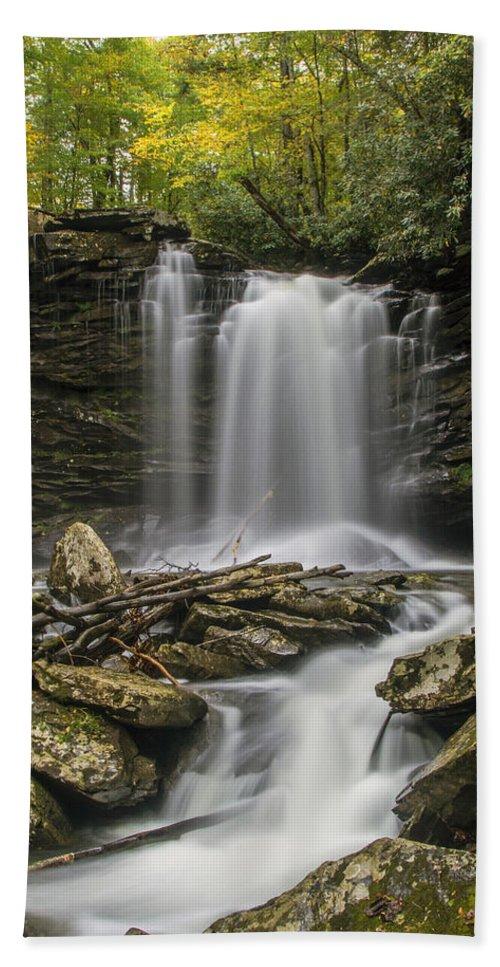 Waterfalls Beach Towel featuring the photograph Falls Of Hills Creek 2 by John Hannan