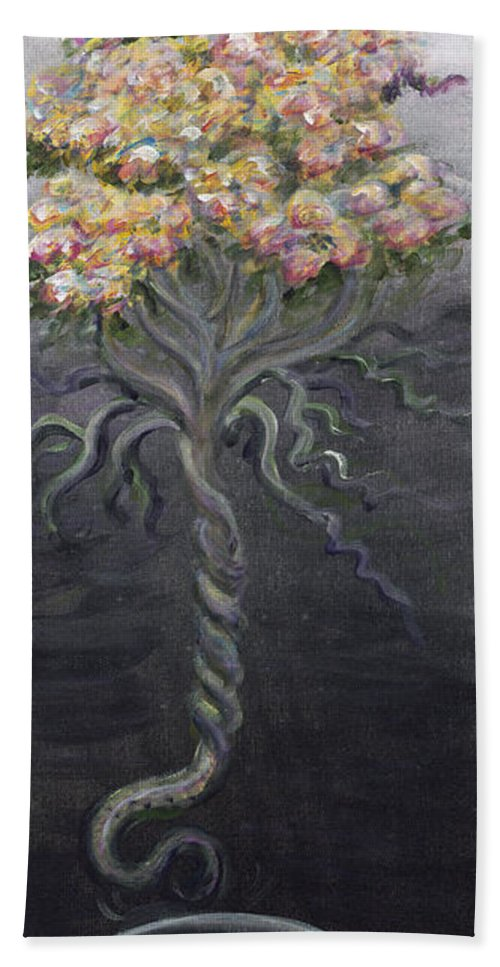 Flowers Beach Towel featuring the painting False Teaching by Nadine Rippelmeyer