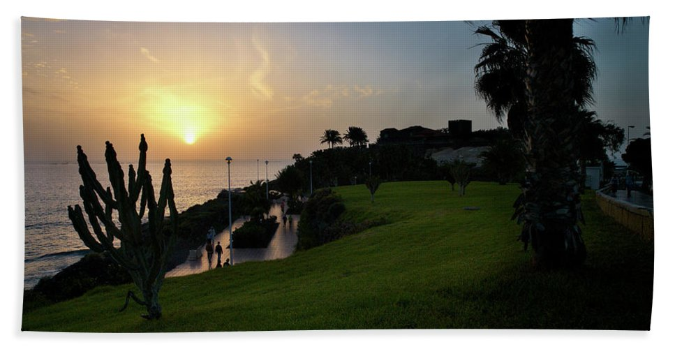 Fanabe Beach Towel featuring the photograph Fanabe Evening 1 by Jouko Lehto