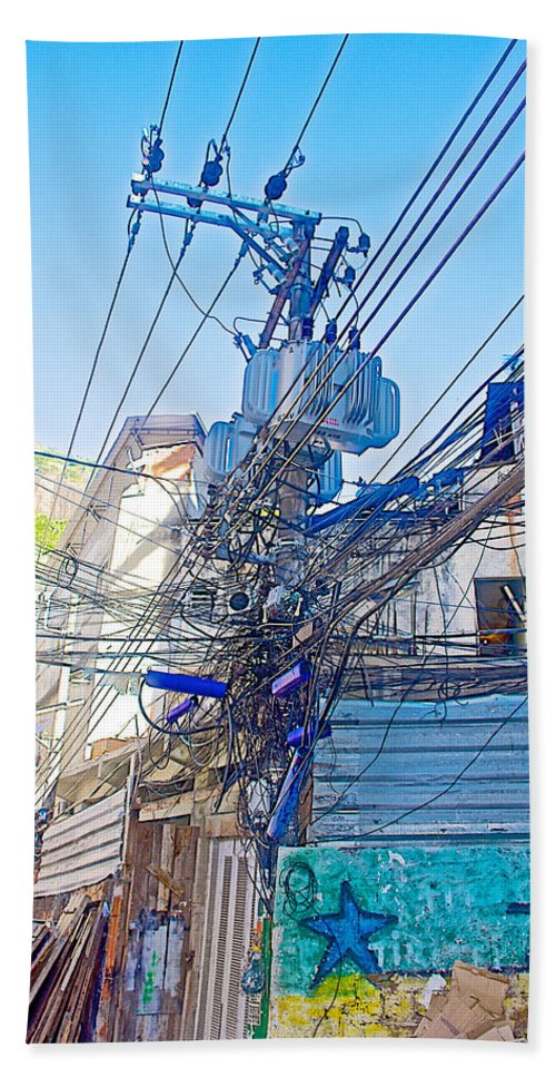 Fancy Electrical Wiring In Rocinha Favela In Rio De Janeiro-brazil ...