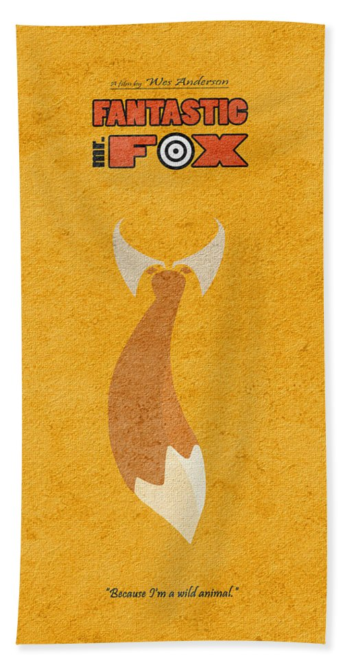 Fantastic Mr Fox Beach Towel featuring the digital art Fantastic Mr. Fox by Inspirowl Design