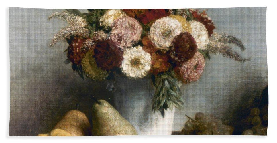 1865 Beach Towel featuring the photograph Fantin-latour: Fruits, 1865 by Granger