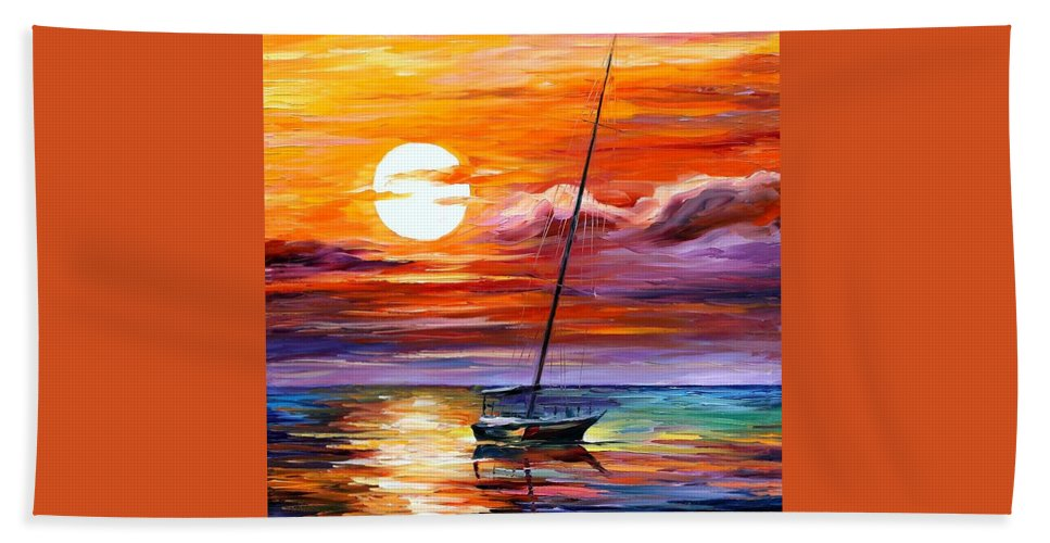Afremov Beach Towel featuring the painting Far And Away by Leonid Afremov