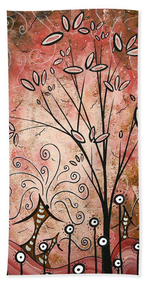 Beach Towel featuring the painting Far Far Away By Madart by Megan Duncanson