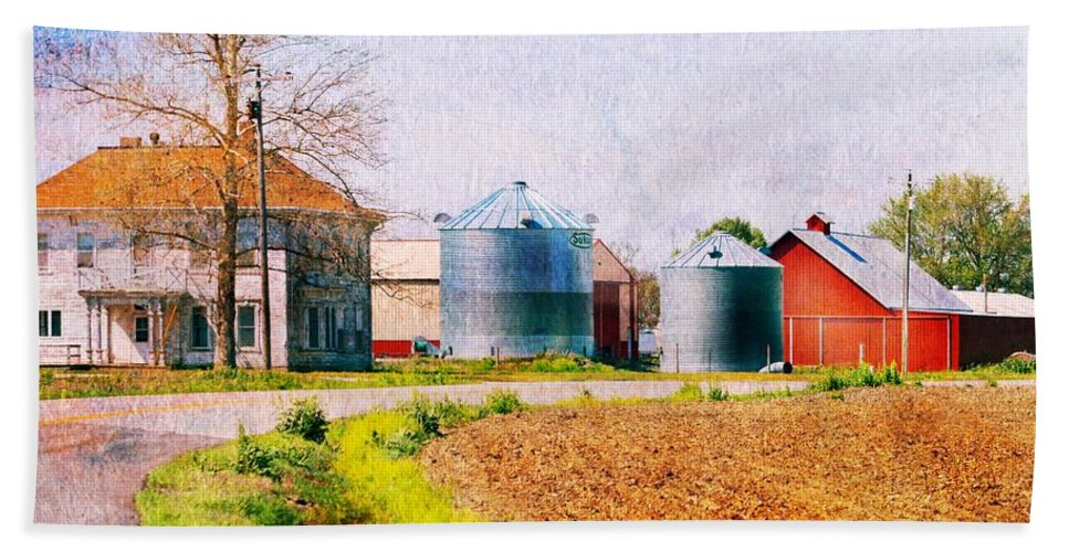 Beach Towel featuring the photograph Farm Around The Corner by Kim Blaylock