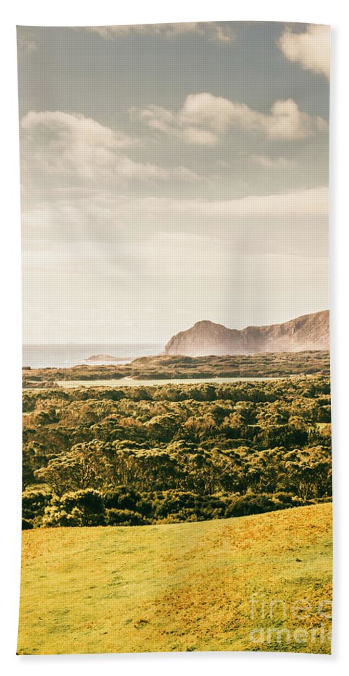 Australia Beach Towel featuring the photograph Farm Fields To Seaside Shores by Jorgo Photography - Wall Art Gallery