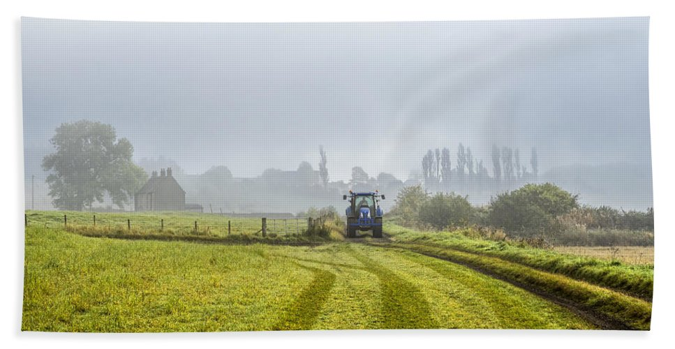 Sony Beach Towel featuring the photograph Farming In Clackmannan by Jeremy Lavender Photography