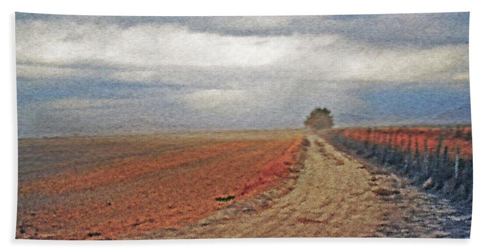 Farmland Beach Towel featuring the photograph Farmland 3 by Steve Ohlsen