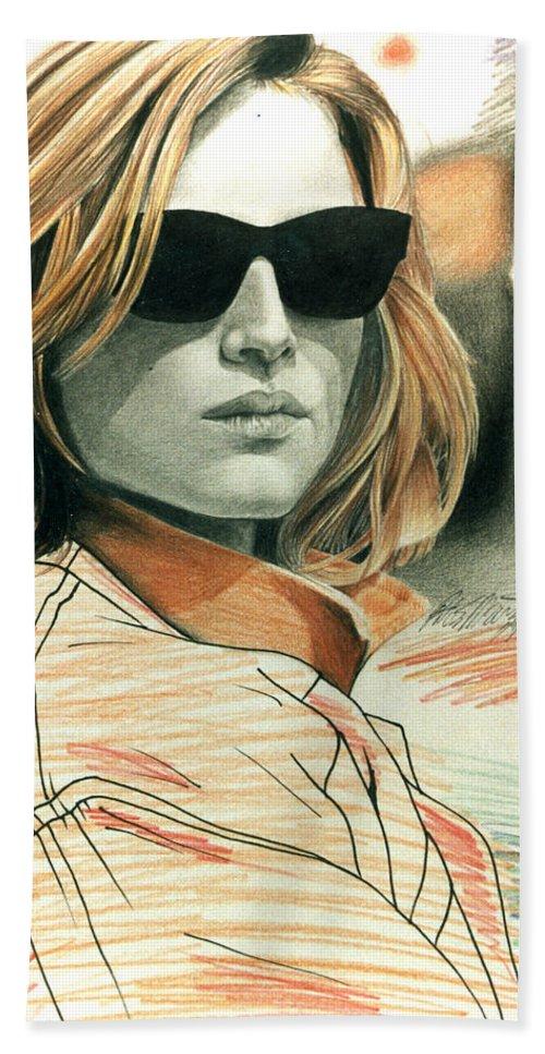 Shaun Beach Towel featuring the painting Fashion Illustration by Shaun McNicholas