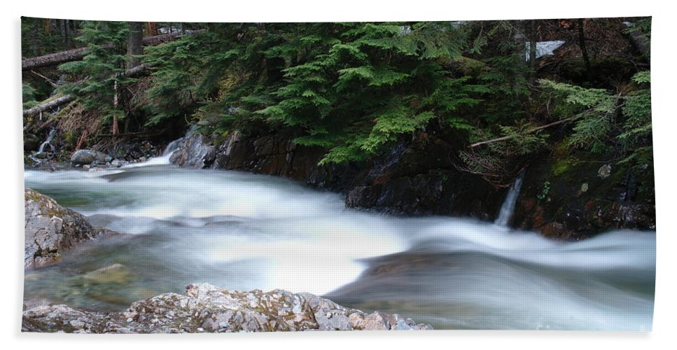 Water Beach Towel featuring the photograph Fast Water Tumbling Fast by Jeff Swan