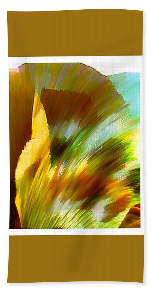Landscape Digital Art Watercolor Water Color Mixed Media Beach Sheet featuring the digital art Feather by Anil Nene