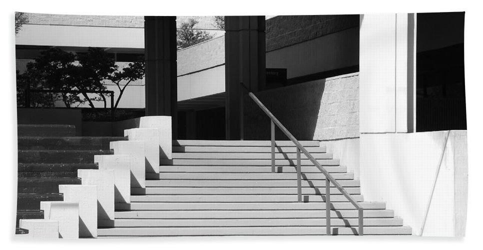 Architecture Beach Towel featuring the photograph Federal Stairs by Rob Hans