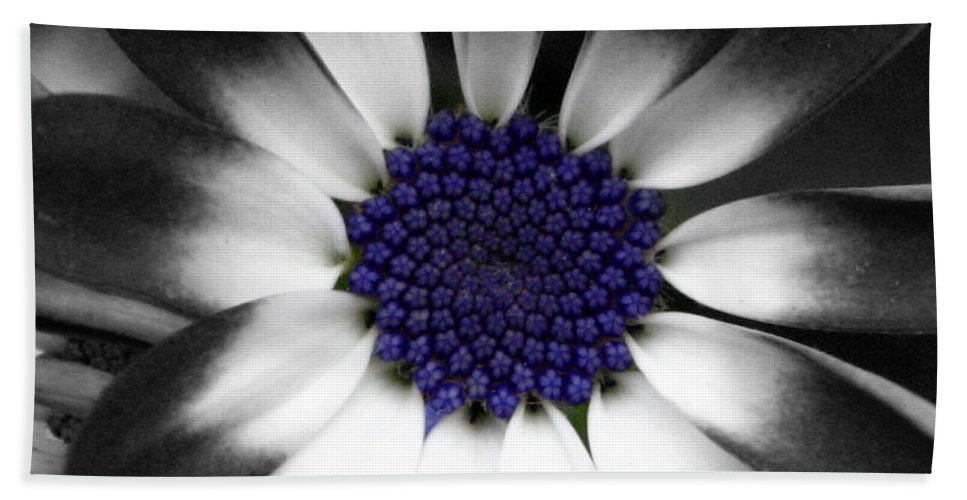 Floral Beach Towel featuring the photograph Feeling Blue by Marla McFall